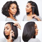 How to flat iron curly hair
